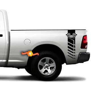 Dodge RAM 1500 2500 3500 Racing Stripe HEMI RAM 4X4 Decals Vinyl Truck Power RAM