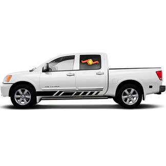 Car Decal Graphic Sticker Side Stripe Kit For Nissan Titan