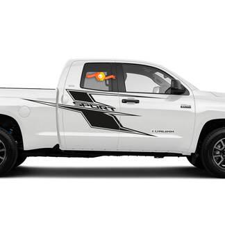 Axis Side Decal Passend für 2014 - 2021 Toyota Tundra Vinyl Aufkleber Grafikstreifen