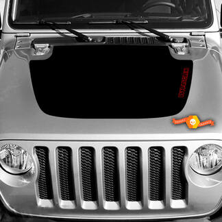 Jeep Wrangler and Gladiator Hood decal, easy graphic