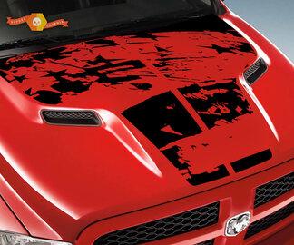 Dodge 2010 2018 passt Ram 1500 2500 Große notleidende Grunge Hood Logo Truck Vinyl Aufkleber Grafik Pick Up Pickup