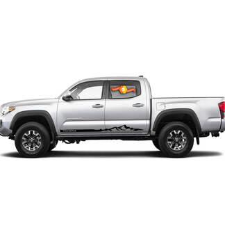 2 Toyota Tacoma Vinyl Aufkleber Aufkleber Grafiken TRD Sport Seitentür