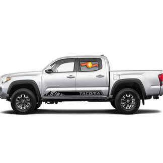 Paar Toyota Tacoma Mountains Vinyl Aufkleber Aufkleber Grafiken TRD Sport Seitentür