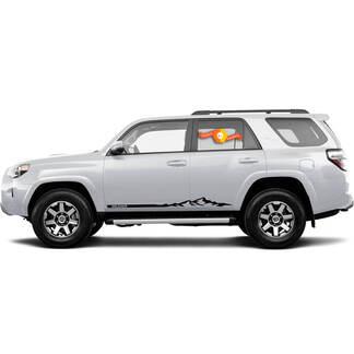 Paar Toyota 4Runner Vinyl Aufkleber Aufkleber Grafiken TRD Sport Seitentür