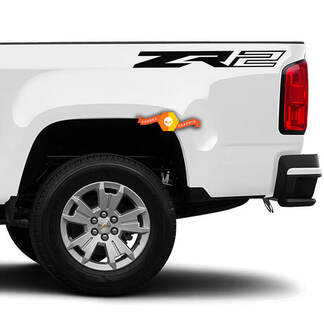 Pair LARGE Chevy Colorado ZR2 Bed Side Badges Decals
