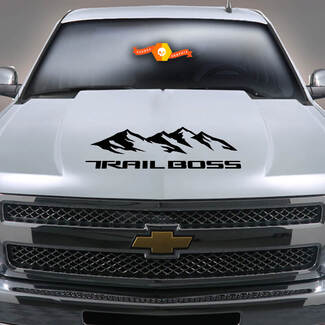 2019 2020 Chevy Silverado 1500 Mountain TRAIL BOSS  Hood Decal Accent Sticker