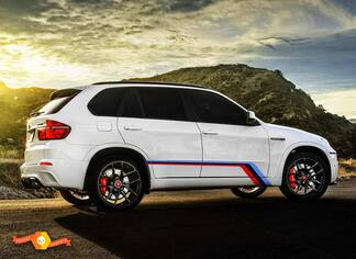 BMW X5M E70 side graphics decals M SPORT M Performance M Tech
