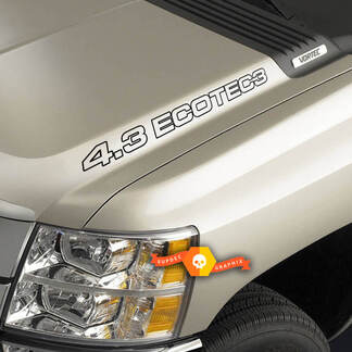 4.3L ECOTEC3 Hood Decals - Chevrolet Silverado Colorado GMC Sierra Canyon Trucks