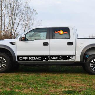 2 tuimelstreep Past Ford Raptor 2019 - 2020 grafische sticker