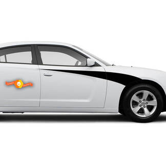 Dodge Charger Bodyline Side Accent Stripes Graphics Decals