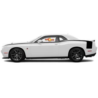 Dodge Challenger Accent Hockey Stijl Body Line Achterzijde Strepen voor 2008-2014