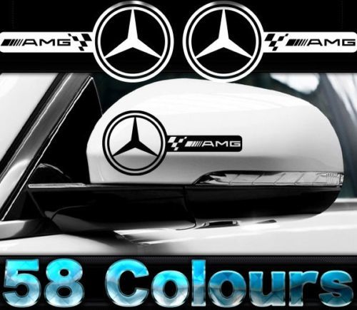 AMG MERCEDES CAR WING MIRROR DECALS VINYL STICKER