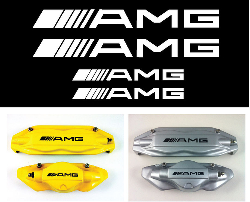 Set of 4 AMG Decal sticker vinyl caliper brake