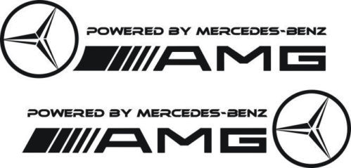 2 - POWERED BY MERCEDES BENZ AMG Side Skirt Decals stickers