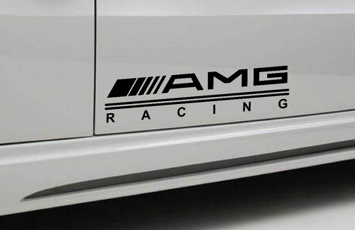2 - AMG RACING Mercedes Benz Decal sticker sport door