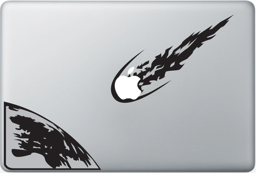 Asteroid Apple Macbook Decal Sticker