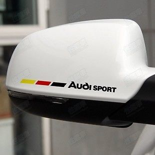 2 AUDI AMAZING CAR WING MIRROR CAR STICKERS CAR DECAL