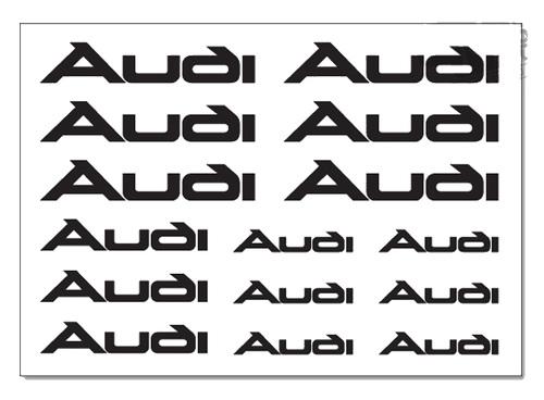 AUDI-remklauw Decals Stickers TT A3 A4 A5 A6 Q5 S-LINE QUAT