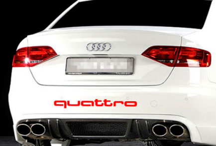 AUDI Quattro Heckkoffer Aufkleber Logo A4 A5 A6 A8 S4 S5 S8 Q5 Q7 TT