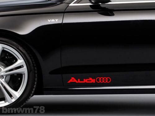 2 AUDI Ringe Seitenkoffer Aufkleber A4 A5 A6 A8 S4 S5 S8 Q5 Q7