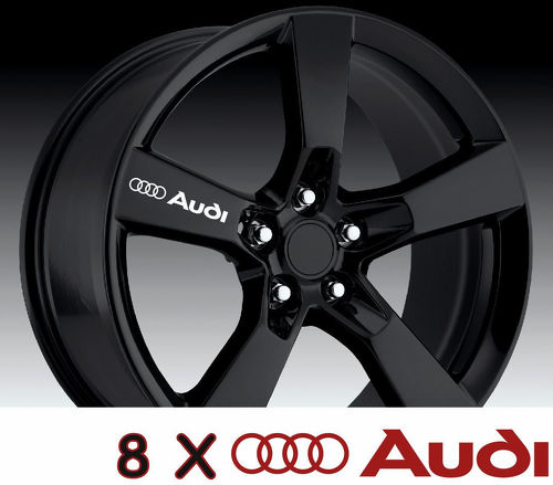8 X AUDI Wheels Door Handle Decals Stickers Graphics Vinyl
