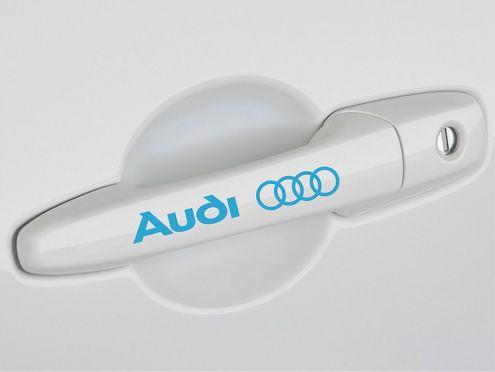4 AUDI DUURGESCHAKELD DECAL STICKER A3 A4 S4 A5 A6 Q5 Q7 TT Quatro