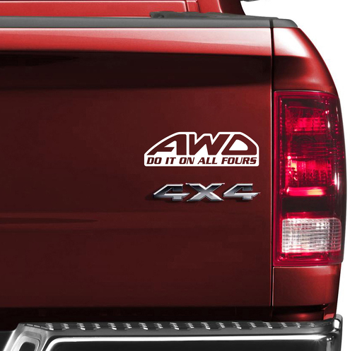 AWD Diesel 4x4 4WD Off Road Truck Jeep TJ LJ JK CJ Vinyl Sticker Decal