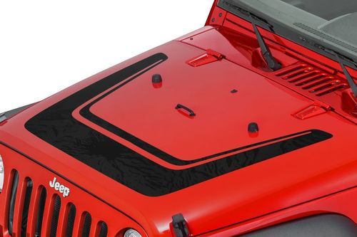 Jeep Wrangler Altitude Unlimited JK Hood Decal