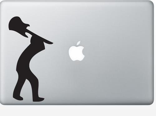 Apple-Macbook Hard Rock Humor decal sticker