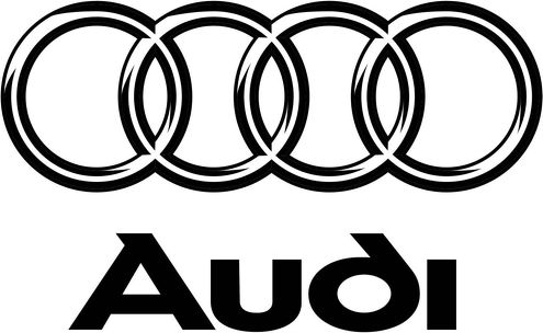 2 AUDI Rings A3 A4 A6 A8 RS3 RS4 stickers decals