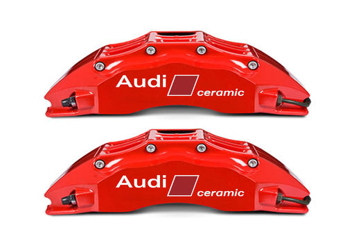 2 Audi Carbon Ceramic Stickers Brakes RS4 RS6 RS7 S8 Q7 Decals