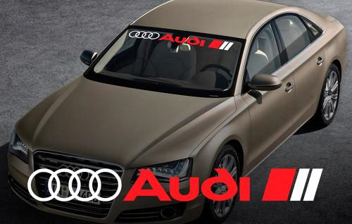 AUDI windshield window front decal sticker for A4 A5 A6 A8 S4 S5 S8 Q5 Q7 TT RS 4 RS8