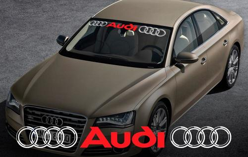 AUDI windshield window front decal #3 sticker for A4 A5 A6 A8 S4 S5 S8 Q5 Q7 TT RS 4 RS8
