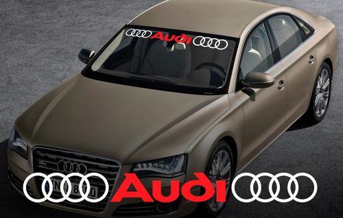 AUDI Windschutzscheibe Fenster Front Aufkleber # 2 Aufkleber für A4 A5 A6 A8 S4 S5 S8 Q5 Q7 TT RS 4 RS8