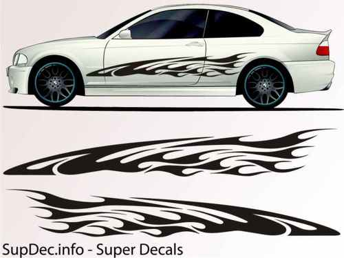 Vinyl Auto Body Graphics EXTERIOR OUTSIDE Decal sticker B701