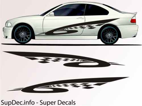 Vinyl Auto Body Graphics EXTERIOR OUTSIDE Decal sticker B709