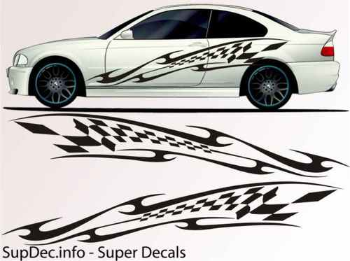 Vinyl Auto Body Graphics EXTERIOR OUTSIDE Decal sticker B764