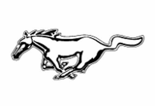 New Ford Mustang logo Decal Sticker 1