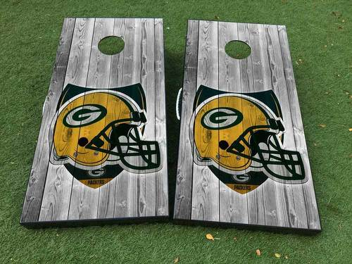 The Green Bay Packers  American football team Cornhole Board Game Decal VINYL WRAPS with LAMINATED
