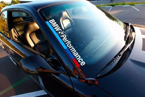 BMW Performance M3 M5 E34 E36 E39 E46 E60 E70 E90 Windshield Decal sticker FRONT
