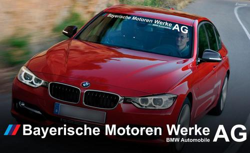 Full name BMW AG Bayerische Motoren Werke AG M3 M5 E34 E36 E39 E46 E60 E70 E90 Windshield Decal sticker logo