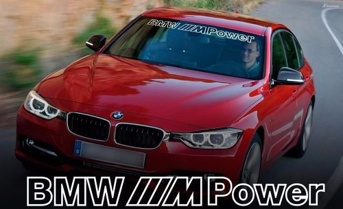 BMW M Power outline WINDSHIELD BANNER Window decal sticker for M3 4 5 6 e46 e36