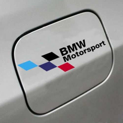 BMW Motorsport fuel tank cap decal sticker