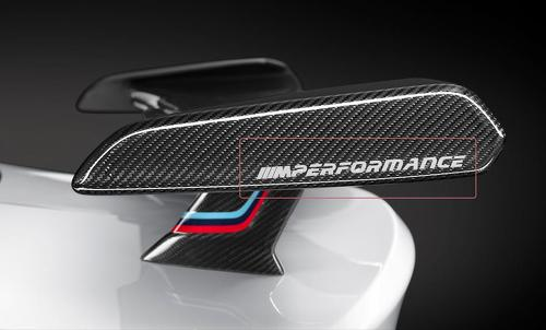 BMW m performance new spoiler vinyl decals stickers