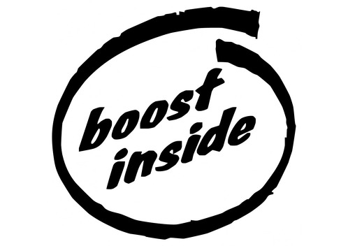 BOOST INSIDE 0048 Self adhesive vinyl Sticker Decal