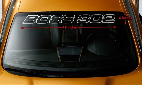 BOSS 302 MUSTANG OUTLINED Premium Windshield Banner Vinyl Decal Sticker 41x4