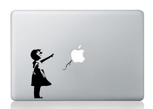 Banksy Graffiti Balloon Girl MacBook Decal Sticker