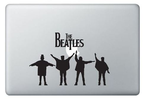 Beatles and apple MacBook decal sticker