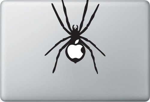Black Widow Spider Apple Macbook Decal Sticker