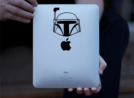 Apple Boba Fett iPad  decal sticker